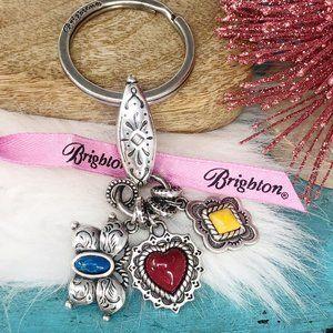Brighton Butterly Heart Southwest Style Key Ring